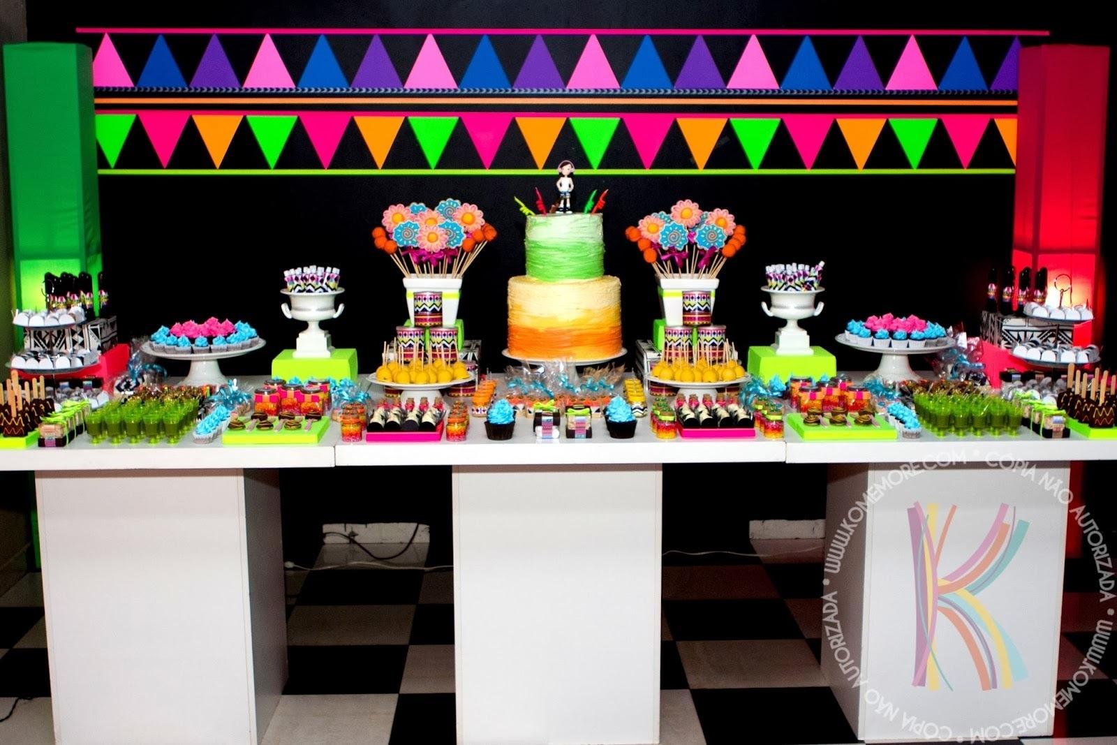 decoracao festa glow:Dicas e Ideias para Festas: Festa Neon